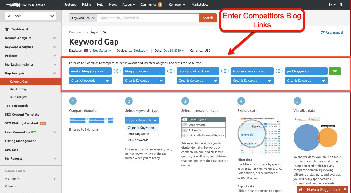 Keyword-Gap-Competitors-Links