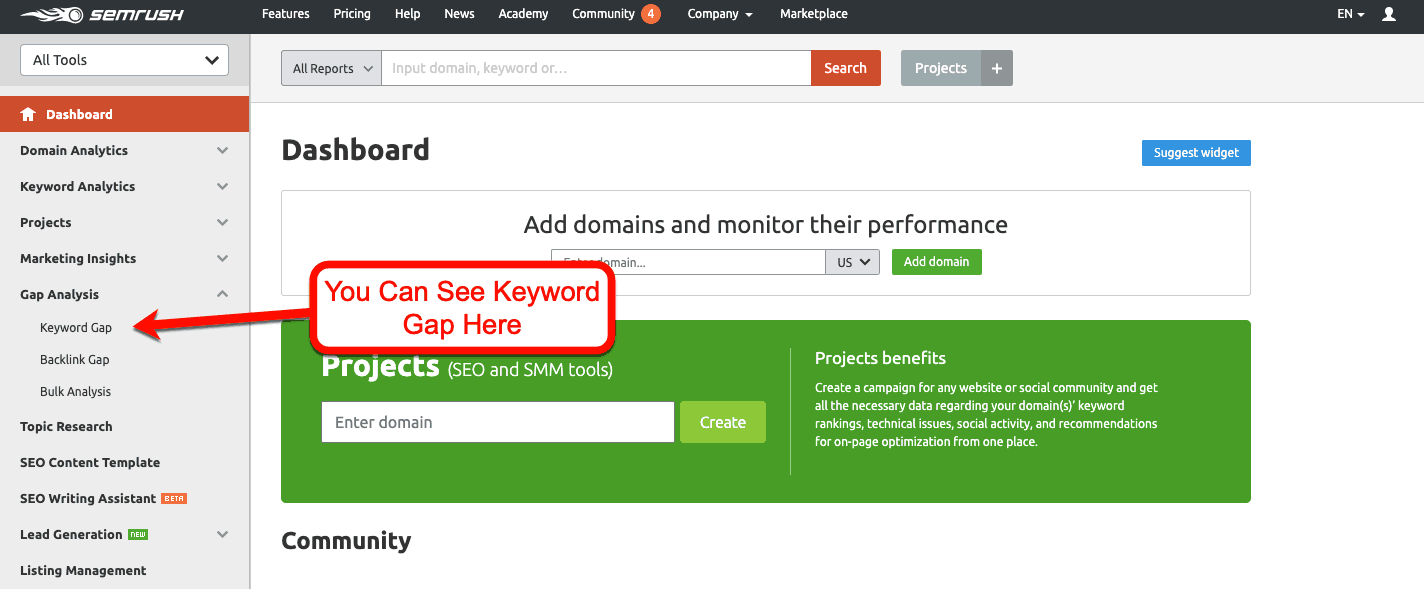 Keyword-Gap