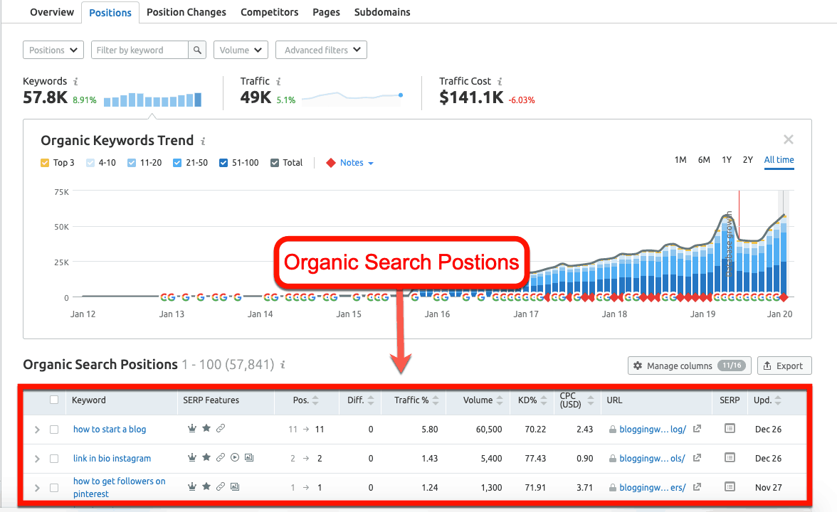 Organic-Search-Postions