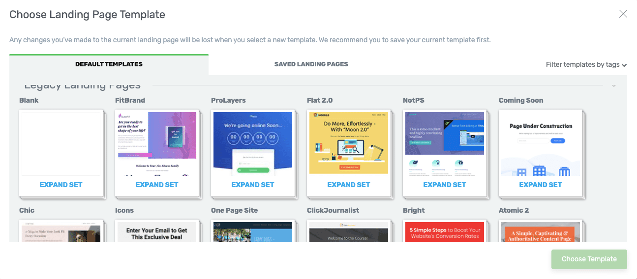 Thrive-Landing-Page-Options